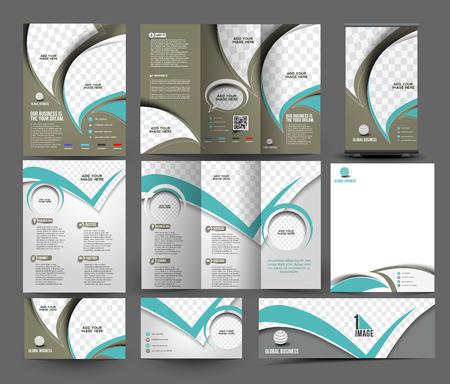Plantilla Negocio Global Set de escritorio Foto de archivo - 41834327