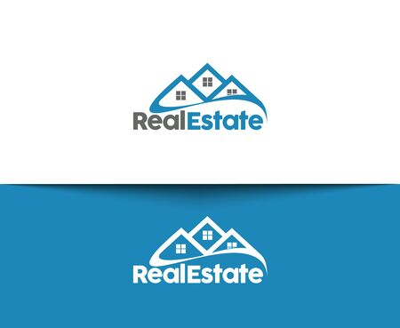 internet education: Abstract Real Estate Icons and vector logo