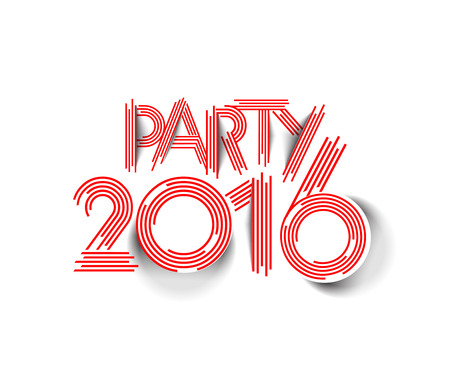 new year party: Happy new year 2016 Party Text Design Illustration