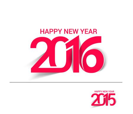 estaciones del a�o: Nuevo a�o 2016 Dise�o Texto feliz Vectores