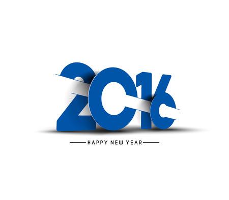 Happy new year 2016 Text Design 일러스트