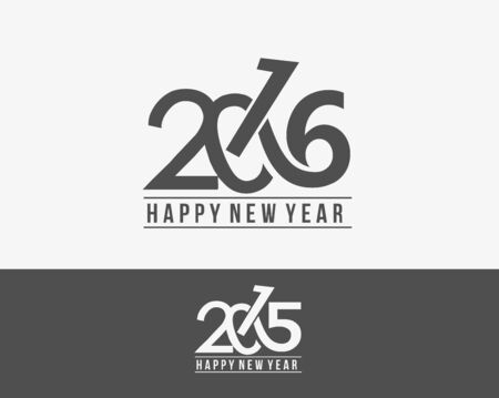 calendar: Happy new year 2016 Text Design Illustration