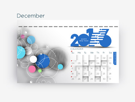 new years resolution: Happy new year 2016 Calendar Design, Vector Illustration