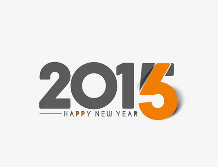new year of trees: Happy new year 2016 Text Design, vector Illustration.