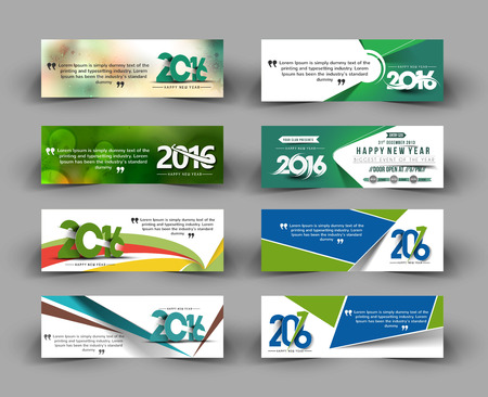 abstract waves background: New year website header and banner Vector