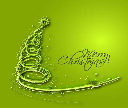 christmas tree illustration: Christmas Tree Design. Vector Illustration.