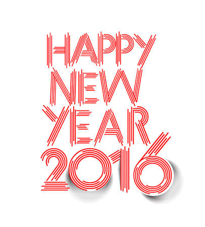 happy new year text: Happy new year 2016 Text Design, Vector Illustration. Illustration