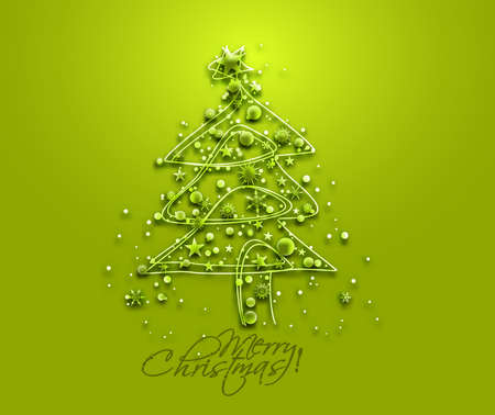 christmas tree illustration: Christmas Tree Design. Vector Illustration.