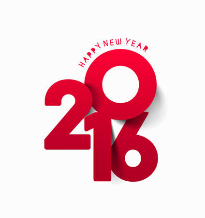 typography: Happy new year 2016 Text Design, vector Illustration.