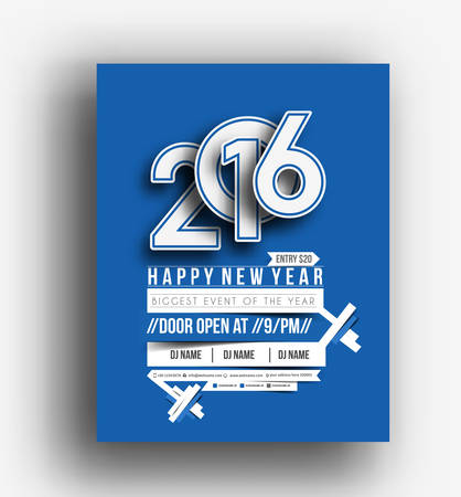 new year party: New Year Party Flyer & Poster Template Design