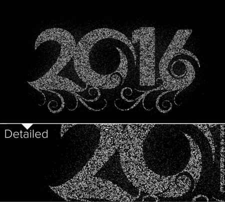 new years resolution: Happy new year 2016  Parties Text Design, vector Illustration.