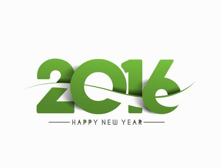 happy: Happy new year 2016 Text Design Illustration
