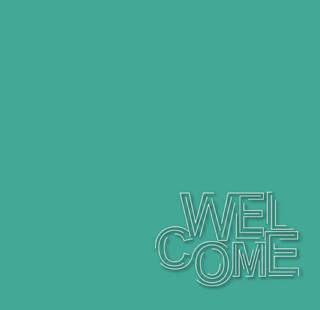 locution: Welcome Text Design Template, Vector design. Illustration
