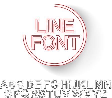 Set of Alphabet Text Design