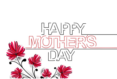 Happy Motherss Day Typographical Vector Background