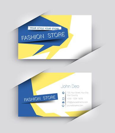 Modern Fashion Business Card Vector Template Stock