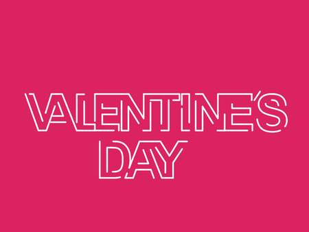 saint valentine s day: Love Text Background with for Valentines Day. Illustration