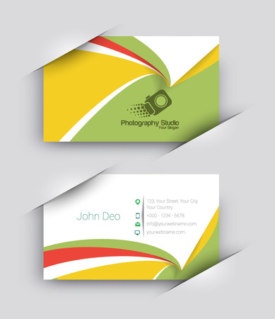 business card template: Modern Business Card Vector Template.