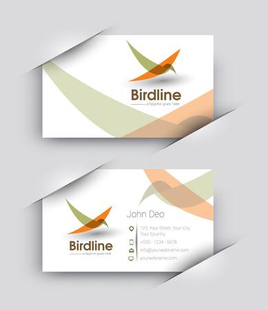 Modern Business Card Vector Template.