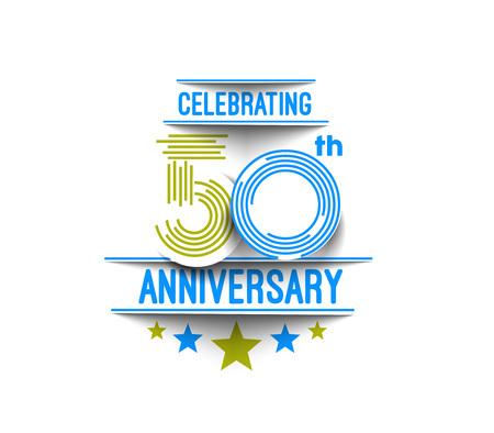 50th Years Anniversary Celebration Design. 일러스트