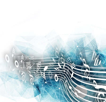 Abstract musical notes background for design use. Stock Vector - 51158635