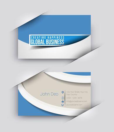 presentation card: Modern Business Card Vector Template.