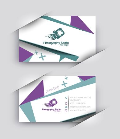 modern business: Modern Business Card Vector Template.