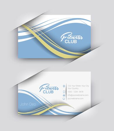 fitness center: Fitness Center Business Card Vector Template.