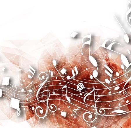Abstracte muzieknoten achtergrond voor het ontwerp te gebruiken. Stock Illustratie