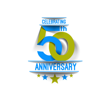 50th Years Anniversary Celebration Design. Illustration