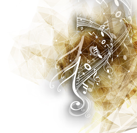 koncept: Abstrakt musikalen noterar bakgrund för design användning. Illustration
