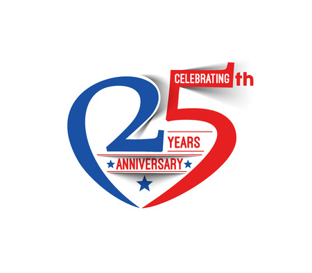 25: 25th Years Anniversary Celebration Design.