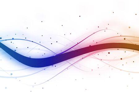 Zusammenfassung Welle Hintergrund Zusammensetzung - Vektor-Illustration