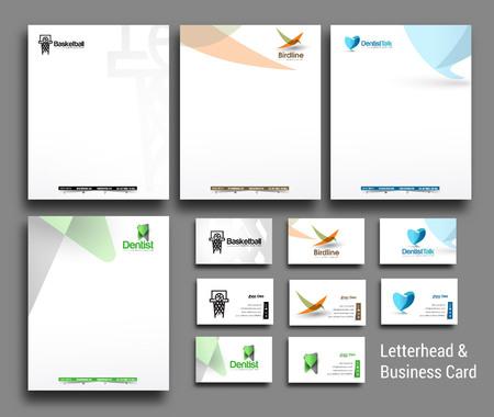 sobres para carta: Conjunto de plantilla de identidad corporativa. ilustración vectorial