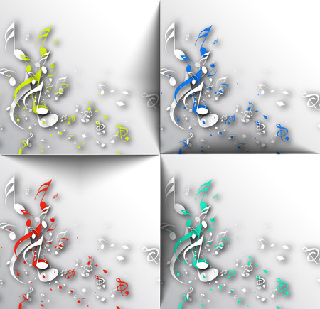 musical background: Abstract musical notes background for design use.