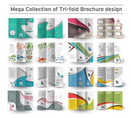 Corporate Business Tri-fold Brochure Design Bundle.