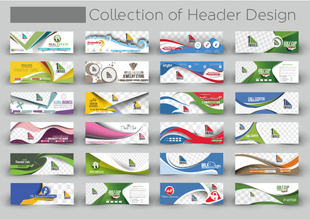 Mega Collection Modern Horizontal Banner & Header Template 版權商用圖片 - 51946428