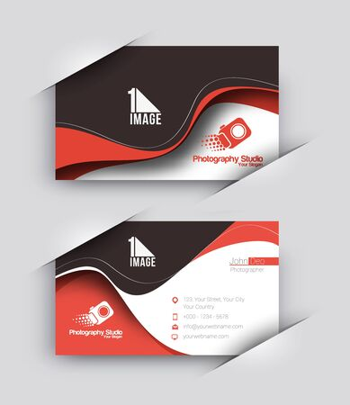 business card template: Photography Studio Business Card Vector Template.