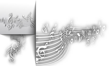 conservatory: Abstract musical notes background for design use.