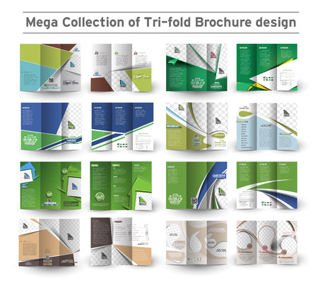 Corporate Business Tri-fold Brochure Design Bundle.