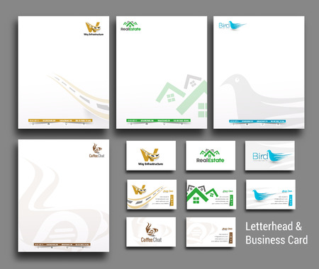letter head: Set of Corporate Identity Template. Vector illustration