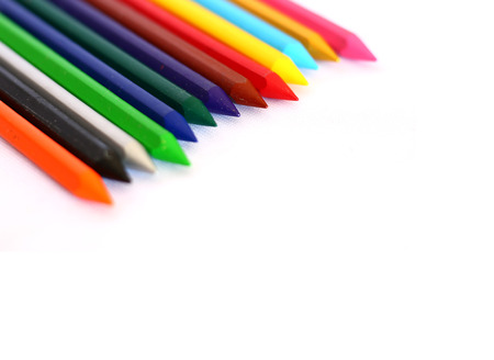 colour pencils: Pencils Colour isolated on white background with sapce of text