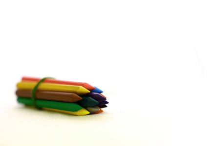 colour pencils: Bunch of Pencils Colour isolated on white background with sapce of text