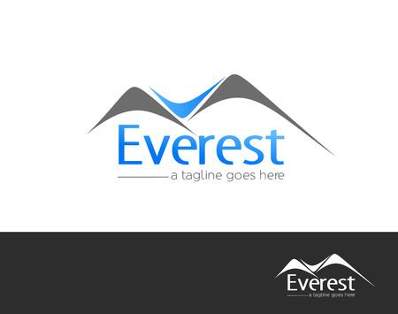 extreme sports: Mountains everest logo element vector design