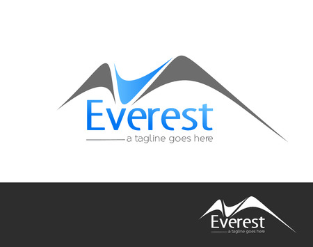 Mountains everest logo element vector design