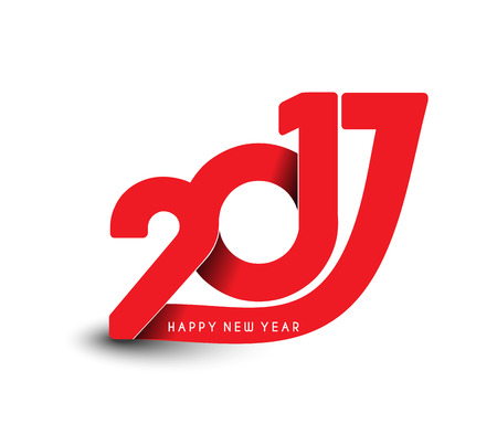 resolution: Happy new year 2017 Text Design vector