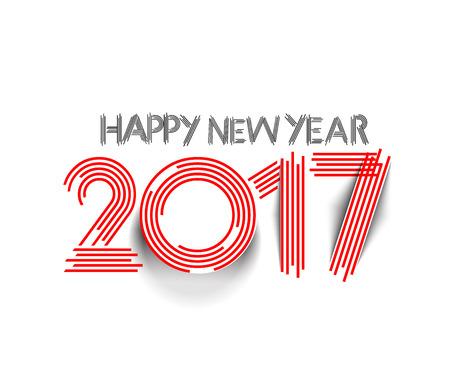 Happy new year 2017 Text Design vector