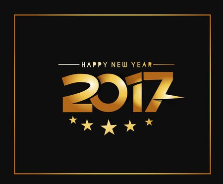 happy new year text: Happy new year 2017 Text Design vector
