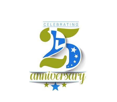 20: 25th Years Anniversary Celebration Design.