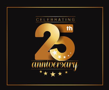 25 Years Anniversary Celebration Design. Stock Illustratie